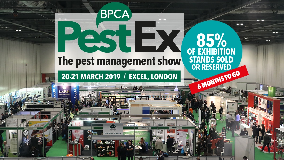 Stands selling out fast at PestEx 2019-2