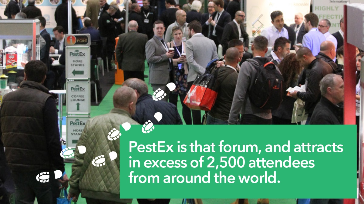2500 Attendees from around the world at PestEx 2017
