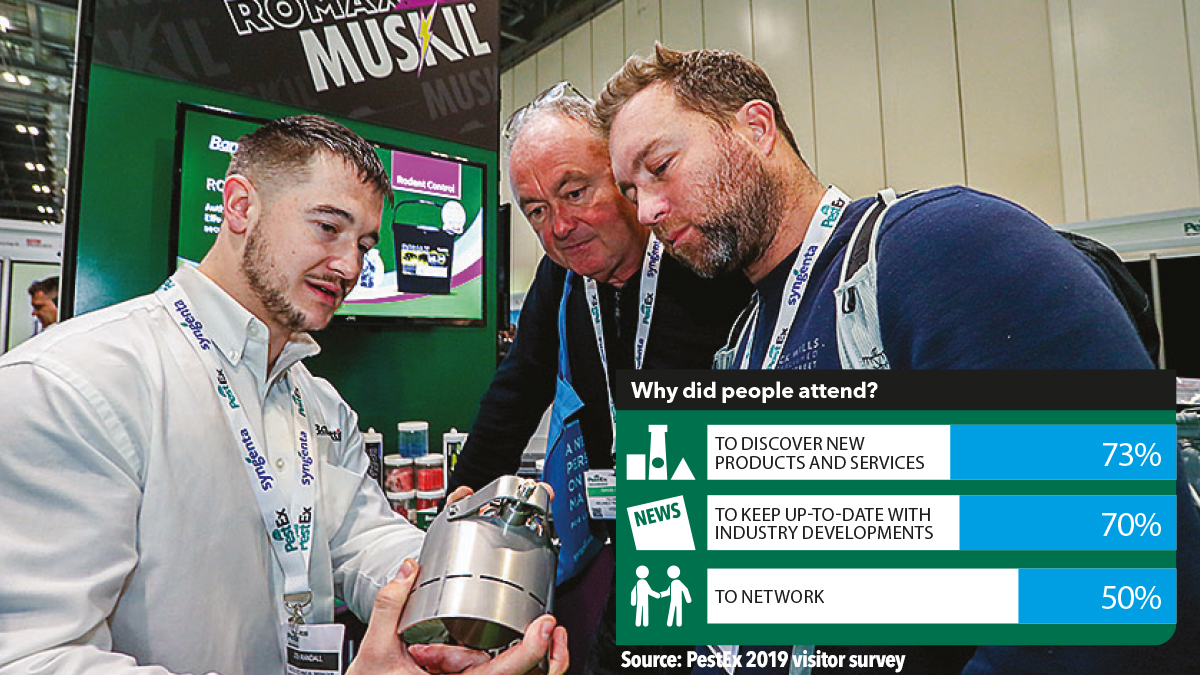 Why do people attend PestEx the pest management show 2021